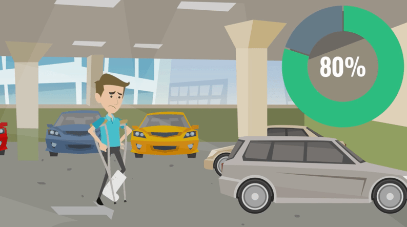 Matt has a lot going through his mind, such as what he's going to do on Saturday afternoons when he can no longer go rock climbing with his friends. So, like 80 percent of patients, he forgets what Dr. Jones tells him by the time he gets to the parking lot.