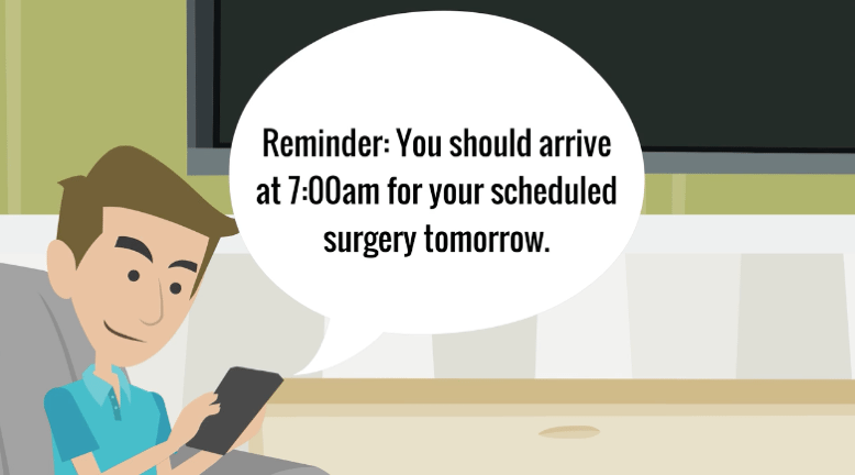 Matt's journey doesn't stop when he leaves the office, which is why he's able to receive reminders for his next appointment, one of the ways communication helps improve healthcare for patients and providers.